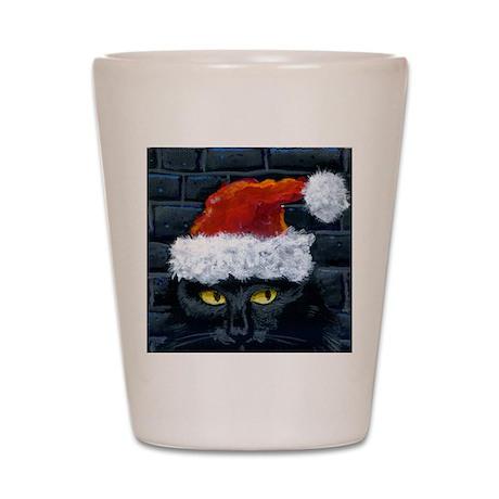 Kitty Claws Secret Santa Shot Glass
