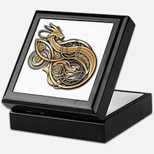 Gold Norse Dragon Keepsake Box