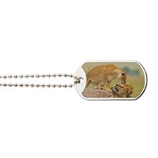Mating pair of lions Dog Tags