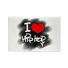 I Love Hip Hop Rectangle Magnet