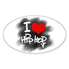 I Love Hip Hop Oval Decal