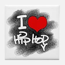 I Love Hip Hop Tile Coaster