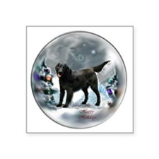 "Flat-Coated Retriever Chris Square Sticker 3"" x 3"""