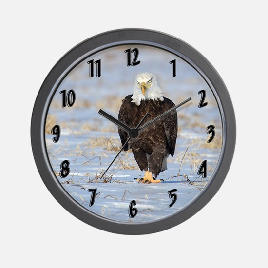 mad eagle large  Wall Clock