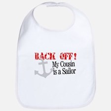 Back Off!-My Cousin is a Sailor is a Mari Bib