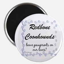 Coonhound Pawprint Magnet