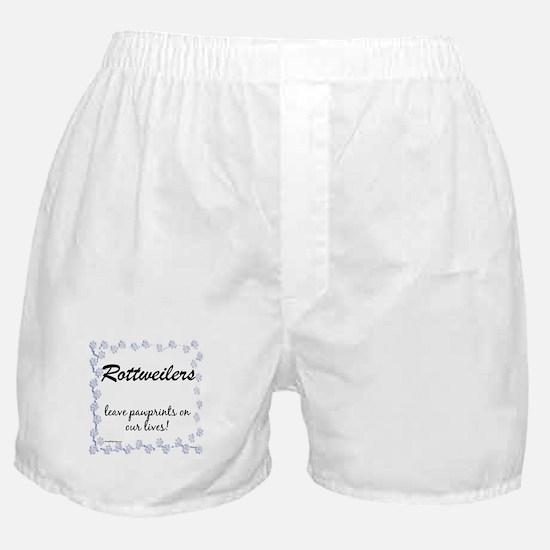 Rottweiler Pawprint Boxer Shorts