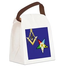 Masonic / Eastern Star Canvas Lunch Bag