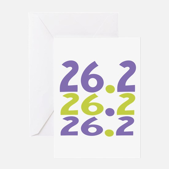 26.2 Marathon Greeting Cards