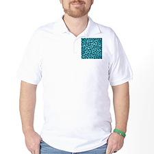 Teal Leopard Print Pattern. T-Shirt