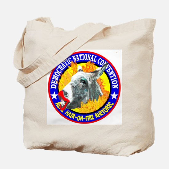HAIR-ON-FIRE RHETORIC Tote Bag