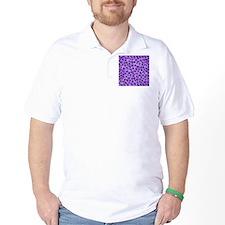 Purple Leopard Print. T-Shirt