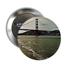 "Golden Gate Bridge and San Francisco  2.25"" Button"