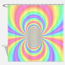 Psychedelic Rainbow Shower Curtain