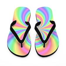Psychedelic Rainbow Flip Flops