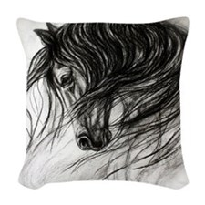 Mane Dance art Woven Throw Pillow