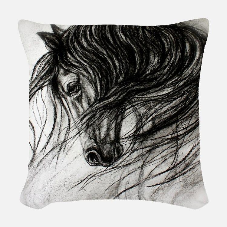 Mane Dance art Woven Throw Pillow