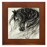 Horses Framed Tiles