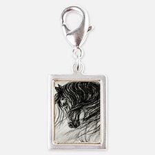 Mane Dance art Silver Portrait Charm