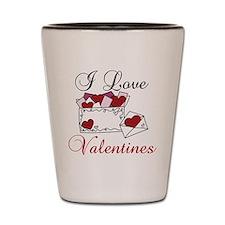 I Love Valentines Shot Glass