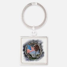 Obama re-elected: Square Keychain