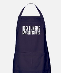 Rock Climbing Is My Superpower Apron (dark)