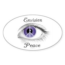Envision Peace Oval Decal
