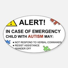 Autism Emergency Warning Decal for Car Decal