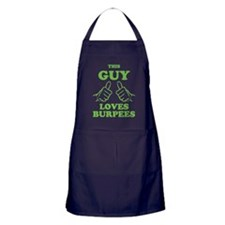 This Guy Loves Burpees Apron (dark)