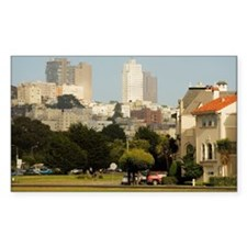 'Buildings in a city, Californ Decal