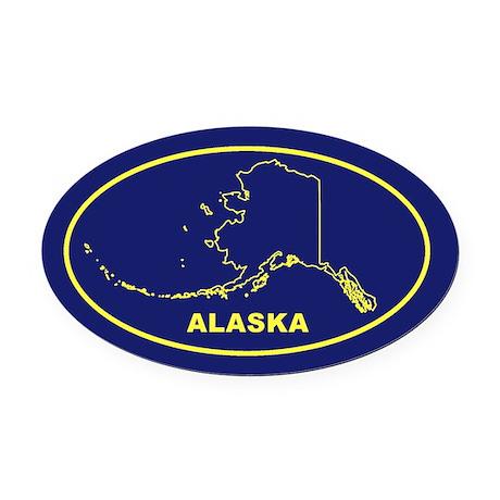 AK- Alaska Oval Car Magnet