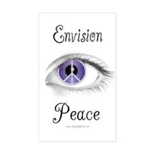 Envision Peace Rectangle Decal