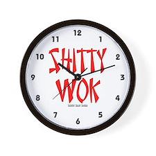 Shitty Wok Wall Clock