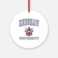 HENSHAW University Ornament (Round)