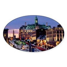 Place Jacques Cartier on a winter n Decal