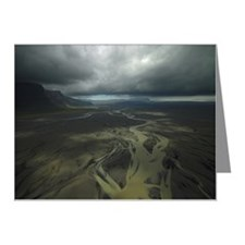 Aerial view of glacial river Note Cards (Pk of 10)