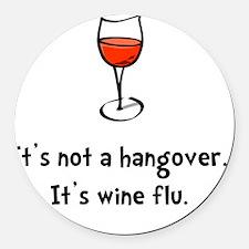Wine Flu Round Car Magnet