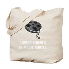 Speak Movie Quotes Tote Bag