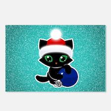 Bucky Christmas Ball - tu Postcards (Package of 8)
