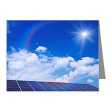 Blue Sky and Sun Over Solar  Note Cards (Pk of 20)
