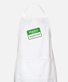 HELLO MY NAME IS DESIGNATED DRINKER BBQ Apron