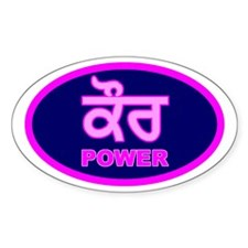 Kaur Power Oval Bumper Stickers