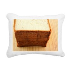 A stack of bread Rectangular Canvas Pillow