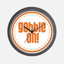 Gobble On Wall Clock