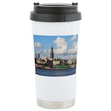 Waterfront of Hamburg w Travel Mug