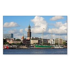 Waterfront of Hamburg with St. Decal