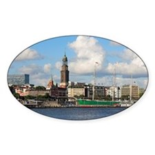 Waterfront of Hamburg with St. Mich Decal