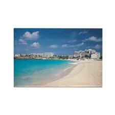Resort hotels on tropical island  Rectangle Magnet