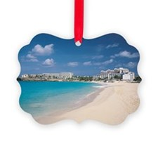 Resort hotels on tropical island  Ornament
