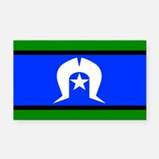 Torres Strait Islander Flag Rectangle Car Magnet